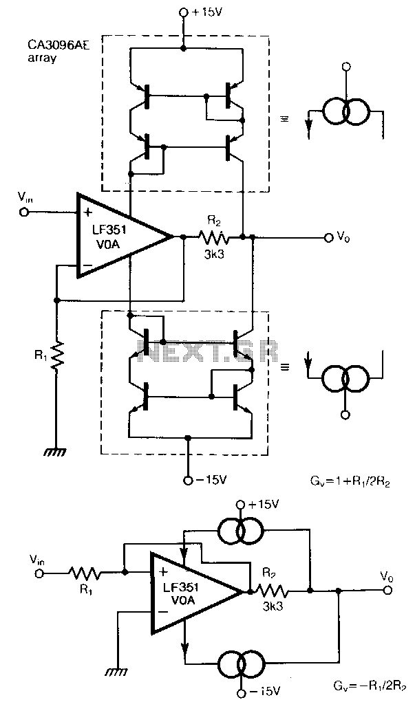 Constant-bandwidth-amplifier - schematic