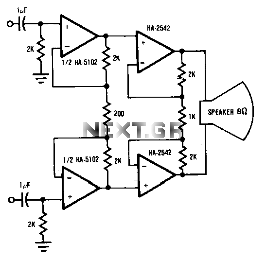 Audio-circuit-bridge - schematic