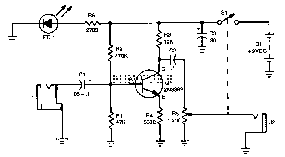 20Db-audio-booster - schematic