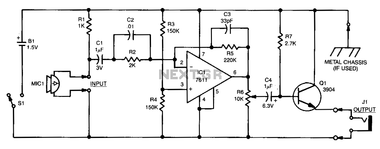 Micro-sized-amplifier - schematic