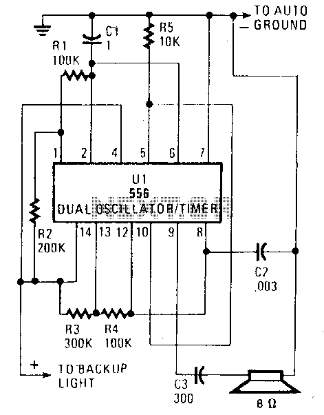 Back-up-beeper - schematic