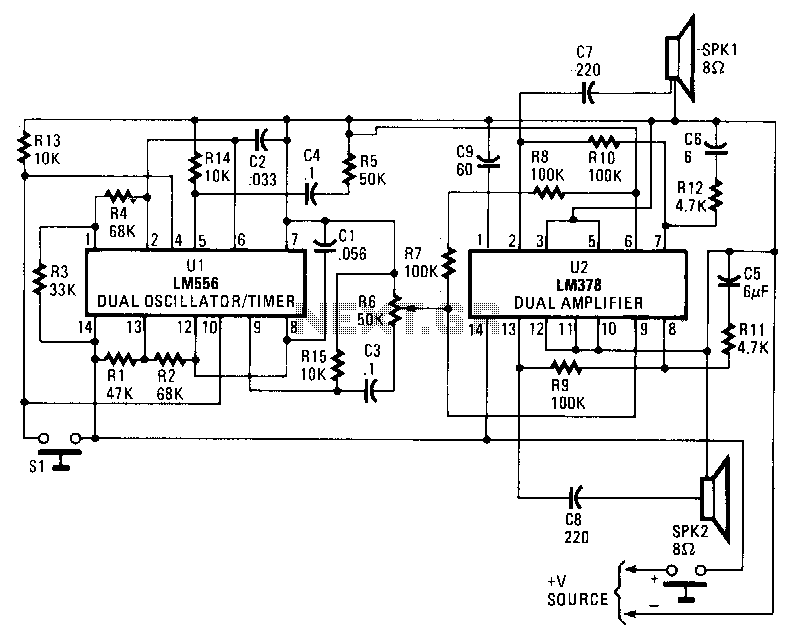 Electronic-car-horn - schematic