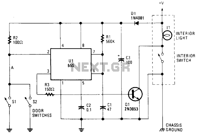 Courtesy-light-extender - schematic