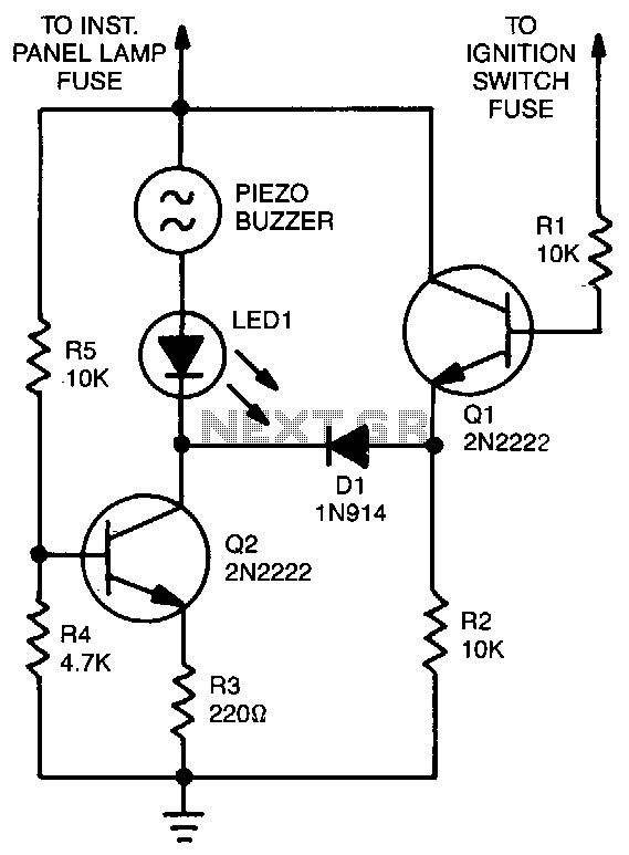 One Side Of The Piezoelectric Buzzer Is Connected To Instrumentpanellight Fuse When Headlights Are Off No Current Reaches: Automatic Headlight Wiring Diagram At Johnprice.co
