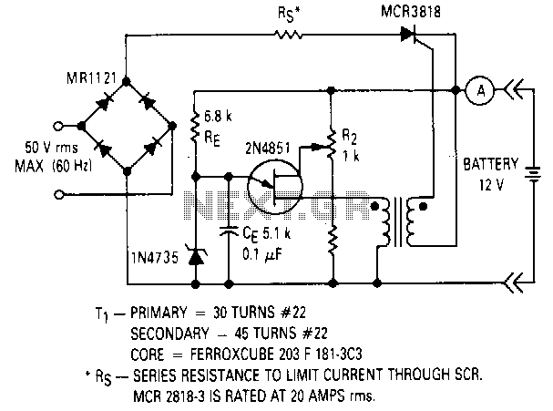 Ujt-battery-charger - schematic