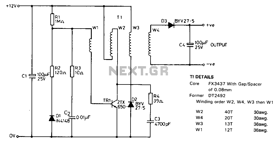 Portable-nicad-battery-charger - schematic