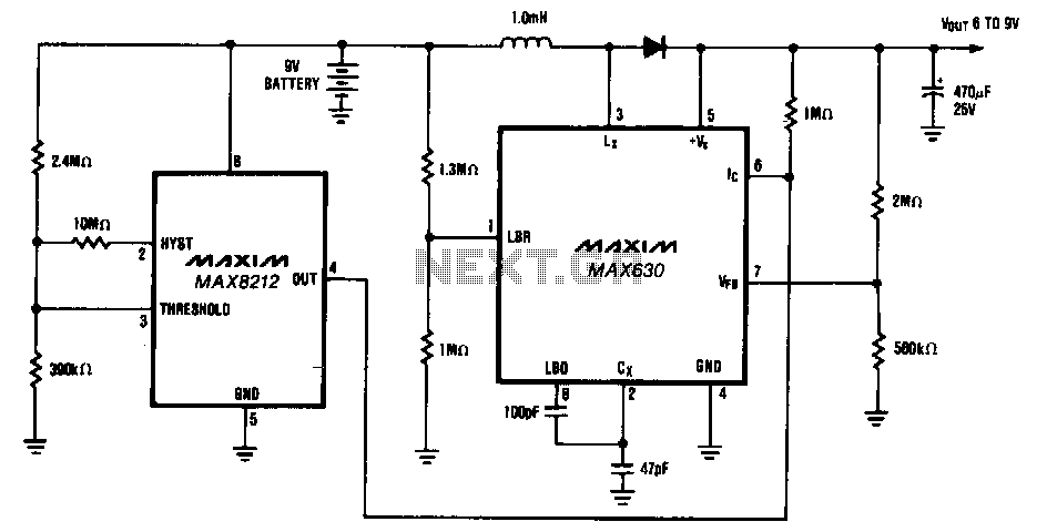 9-V-battery-life-extender - schematic