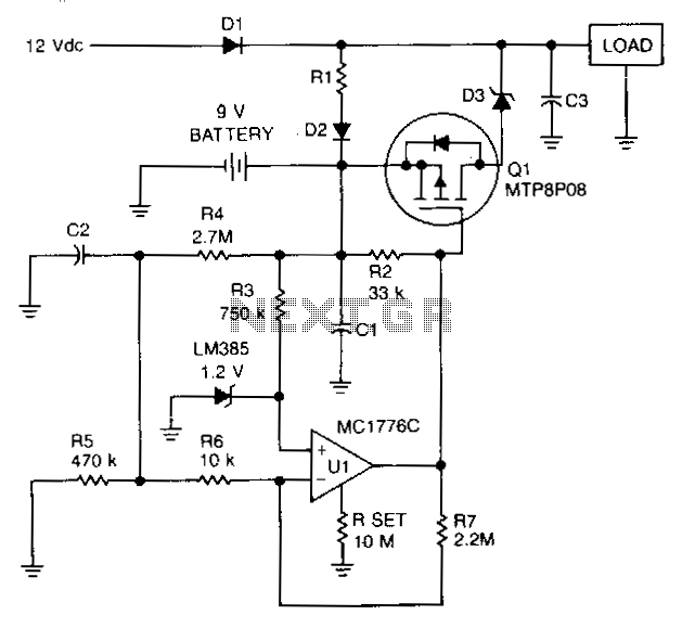 Low-battery-protector- - schematic