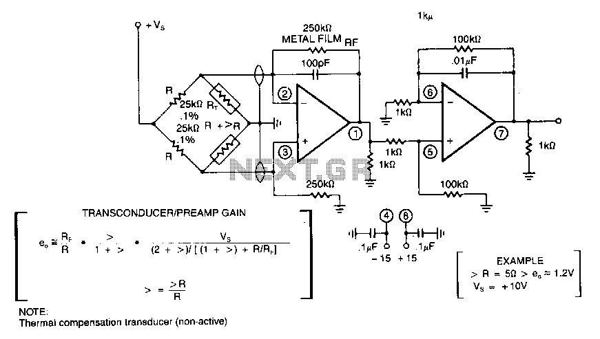 Bridge-transducer-amplifier - schematic