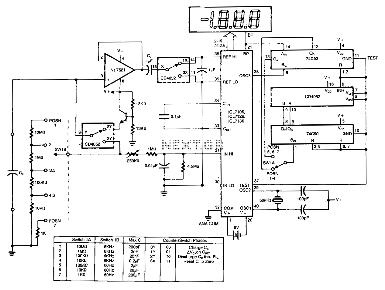 digital-ad-capacitance-meter under meters circuits
