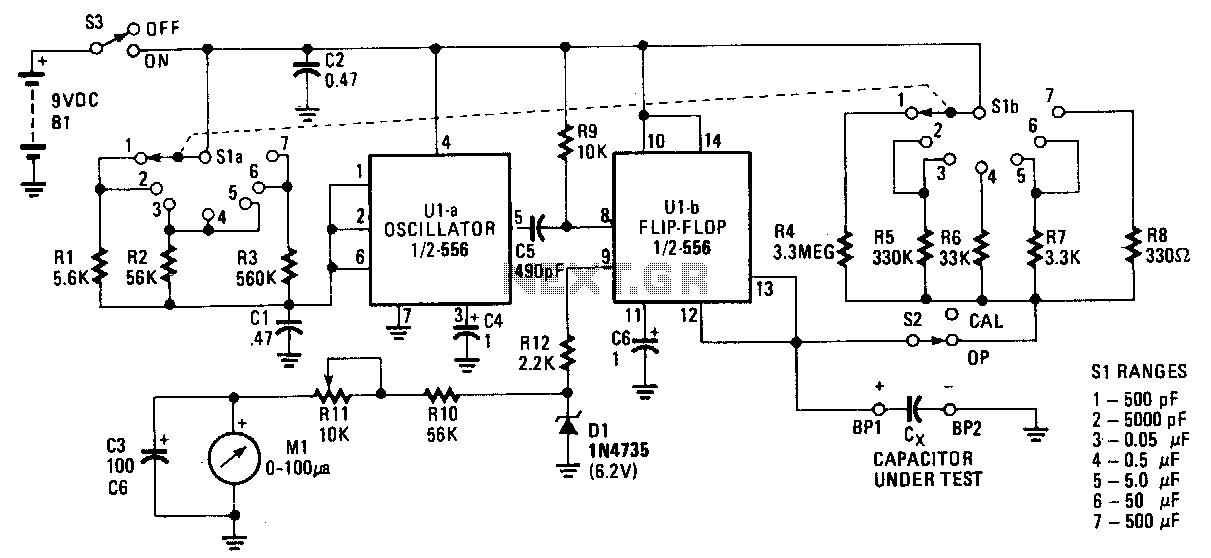 Capacitance-meter - schematic