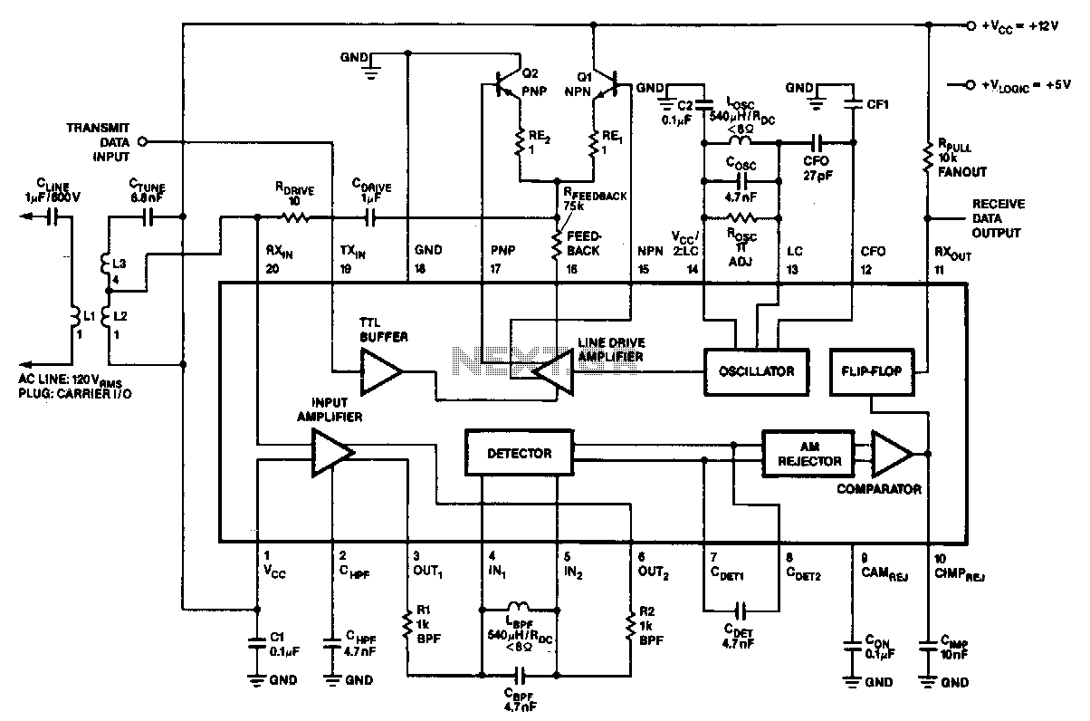 Power-line-modem - schematic