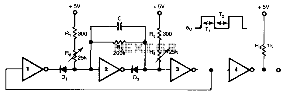 Wide-frequency-ttl-clock - schematic