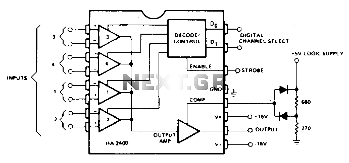 Four-channel-comparator - schematic