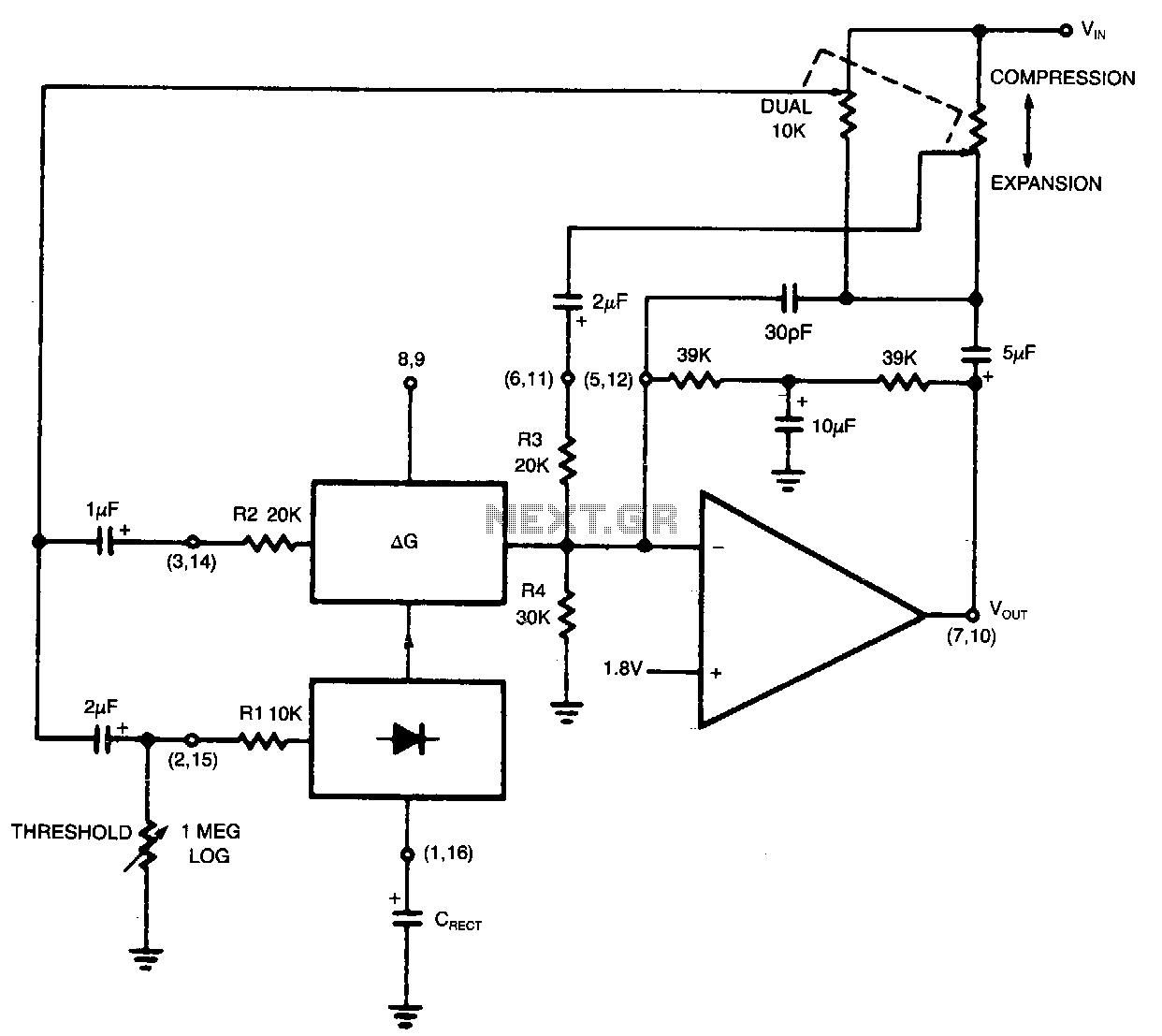 Audio Circuit Page 6 Current Limiting Amplifier Amplifiercircuitsaudio Variable Slope Compressor Expander