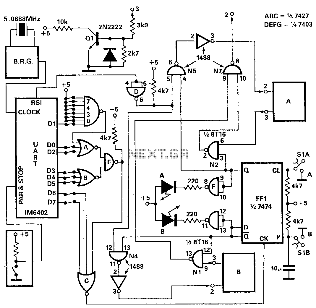 Automatic-rs-232-dataselector - schematic