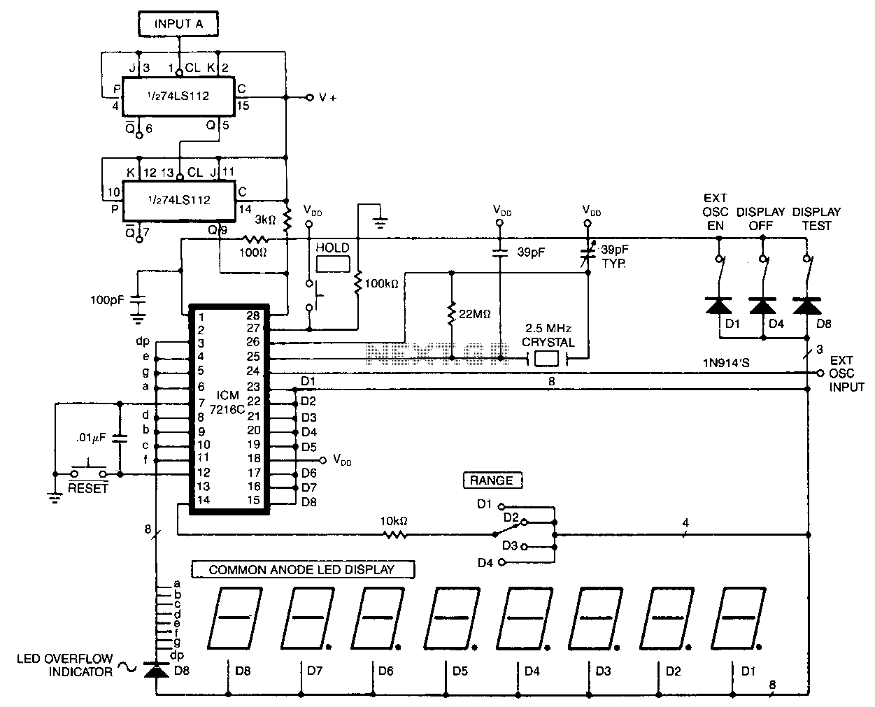 40Mhz-universal-counter - schematic
