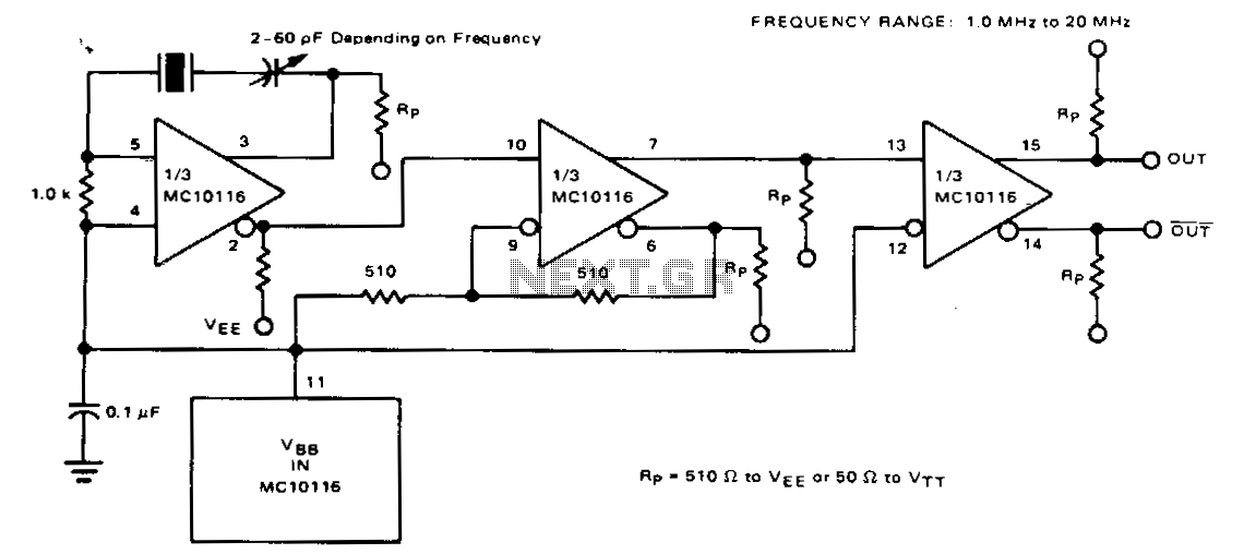 Fundamental-frequency-crystal-oscillator - schematic
