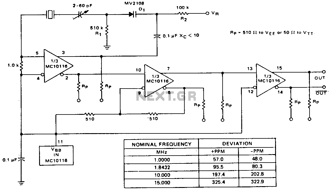 Voltage-controlled-crystal-oscillator - schematic
