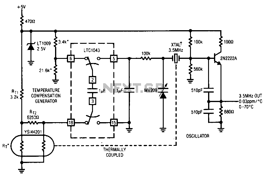 Temperature-compensated-crystal-oscillator - schematic
