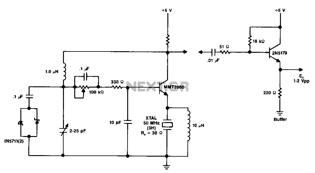 50Mhz-vhf-crystal-oscillator - schematic