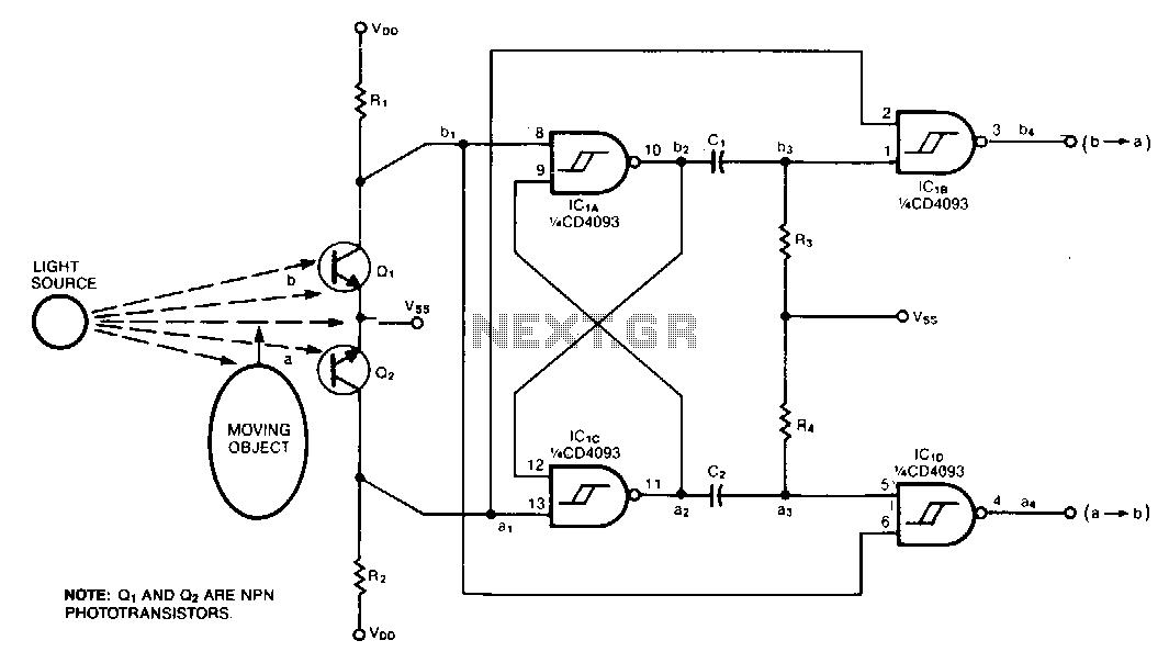 Direction-detector-decoder - schematic