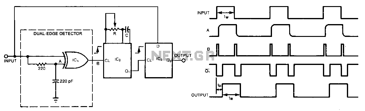Pulse-delay-with-dual-edge-trigger - schematic