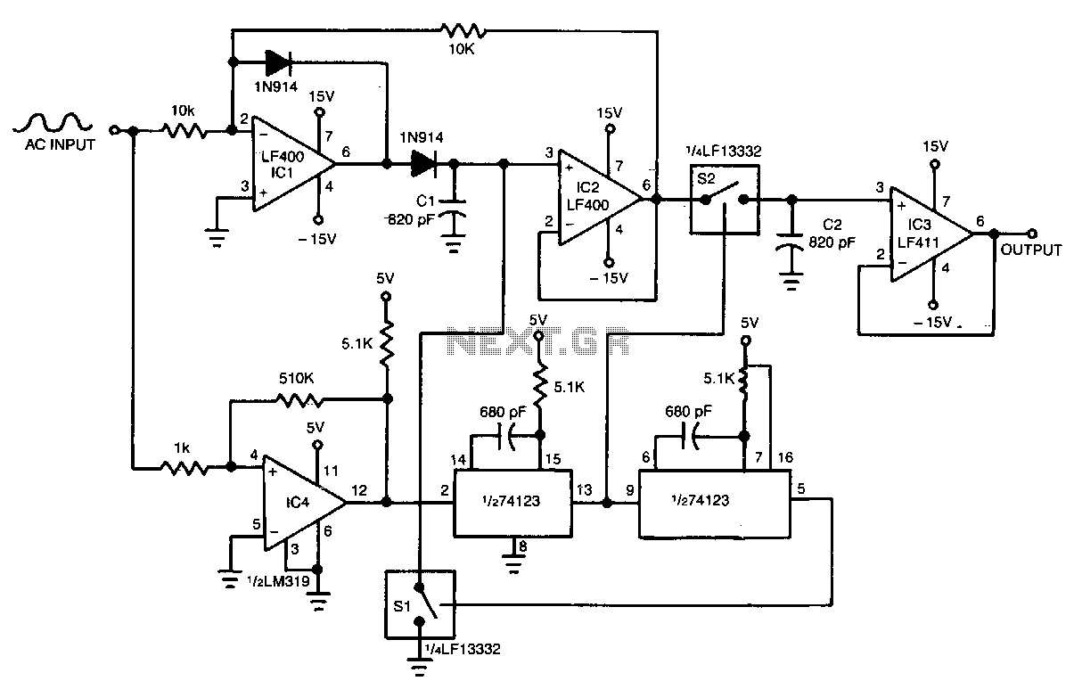 Comparator Circuit Sensors Detectors Circuits Of Electronics And Automations Working With The Wide Range Peak Detector