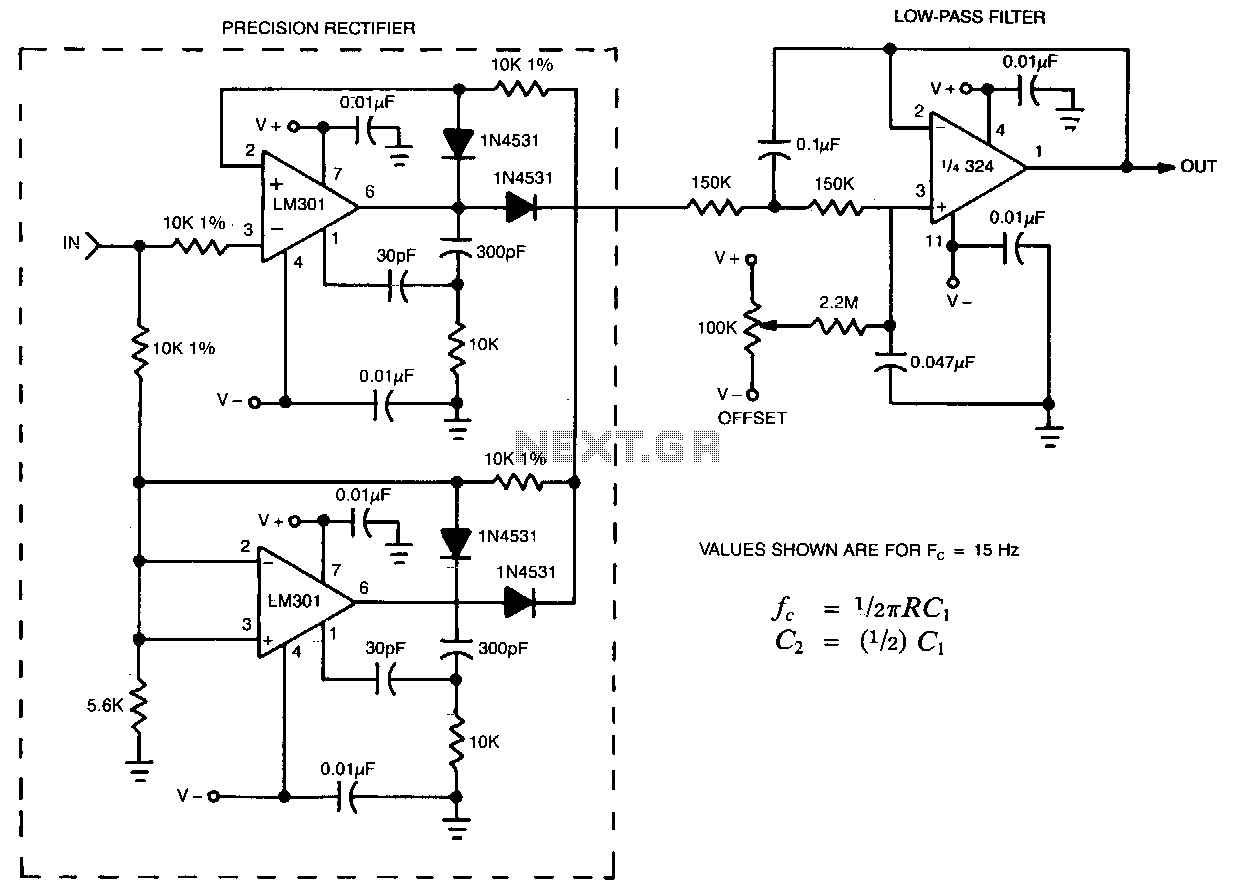 Precision-envelope-detector - schematic