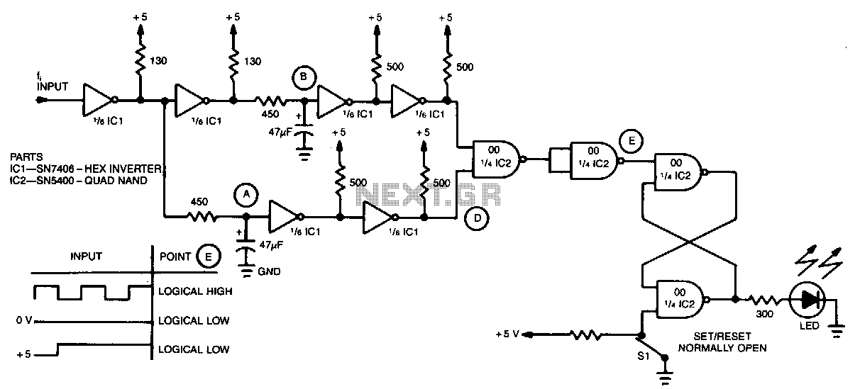 Digital-frequency-detector - schematic