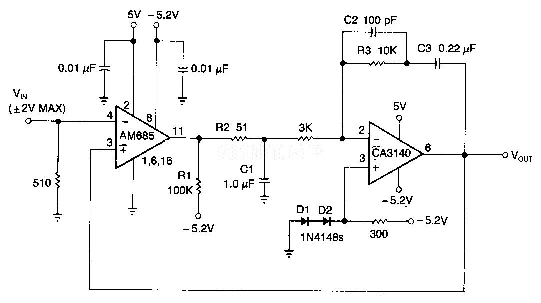 Wide-bandwidth-peak-detector - schematic