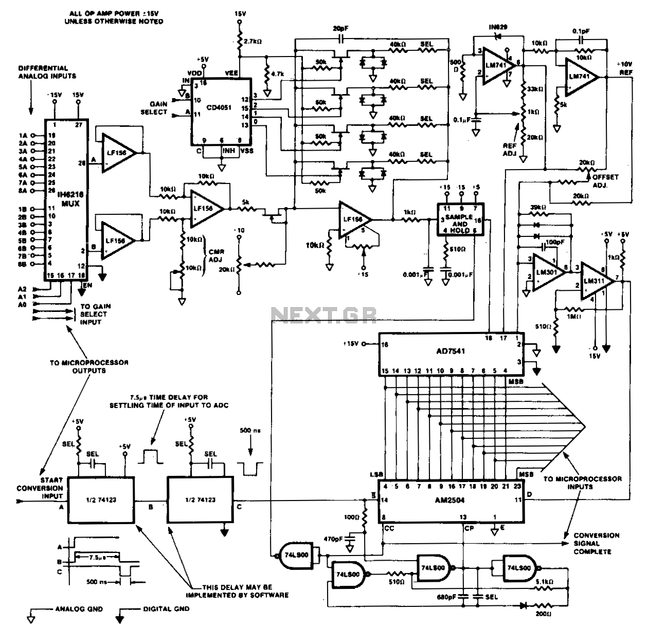 12-Bit-da-conversion-system - schematic