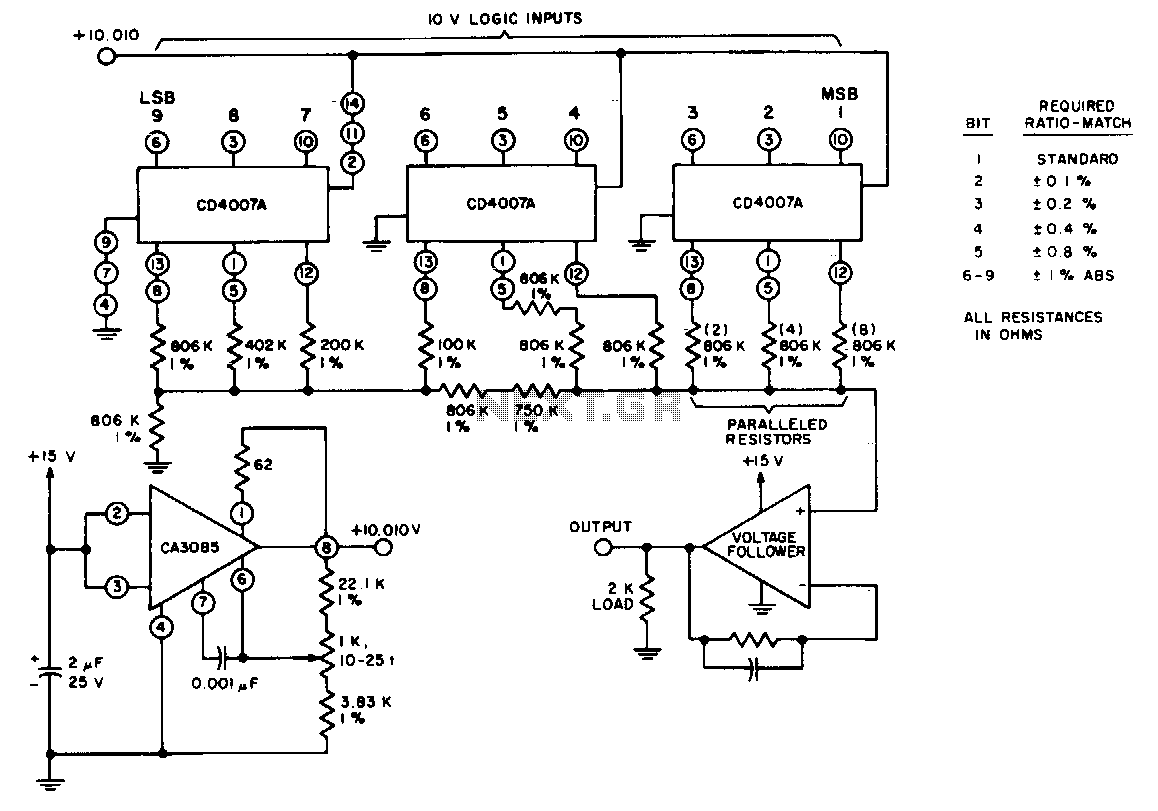New Circuits Page 220 Cut Off By Lm324 Circuit Diagram Auto Lead Acid 555 And Thumbnail 9 Bit Cmos Converter