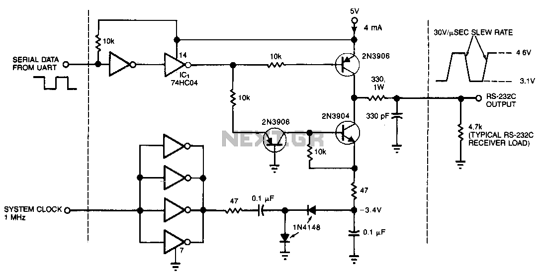 Low-power-rs-232c-driver - schematic
