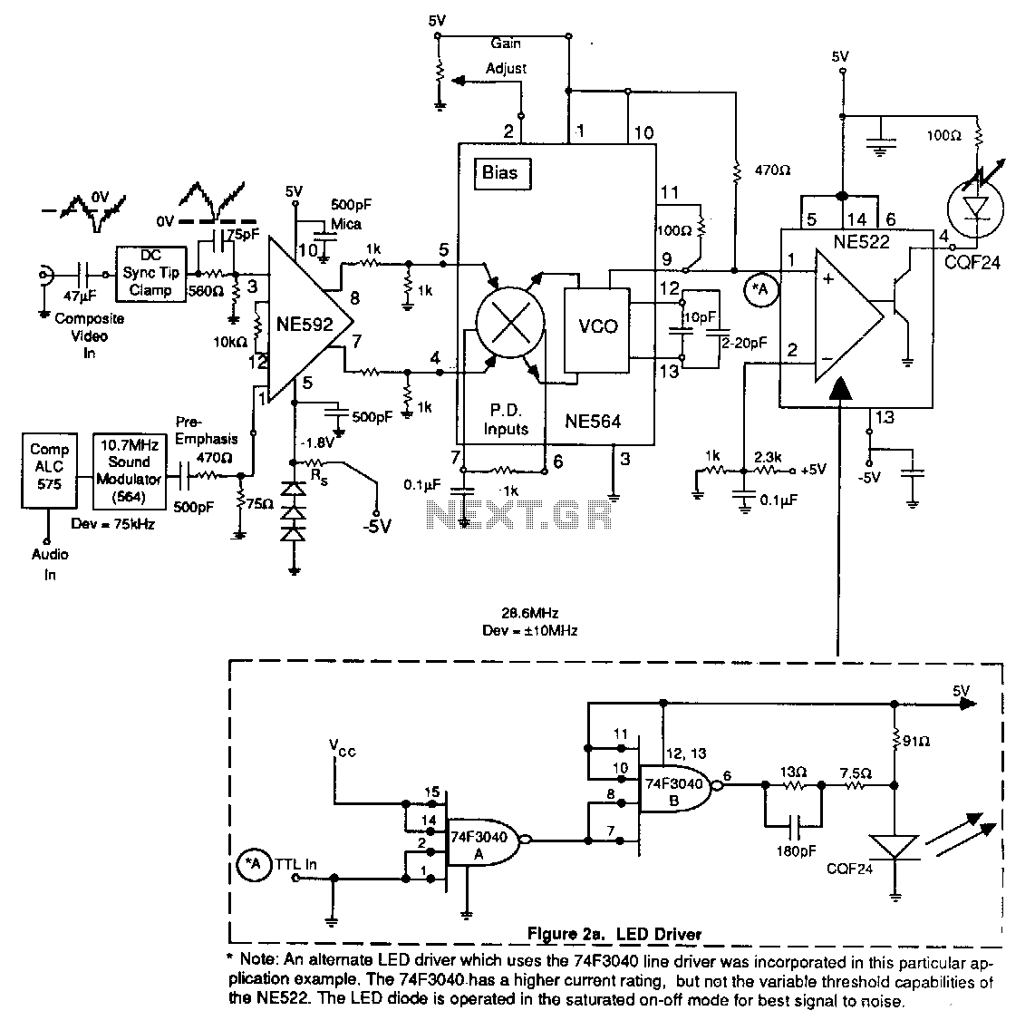 Fiber-optic-transmitter - schematic