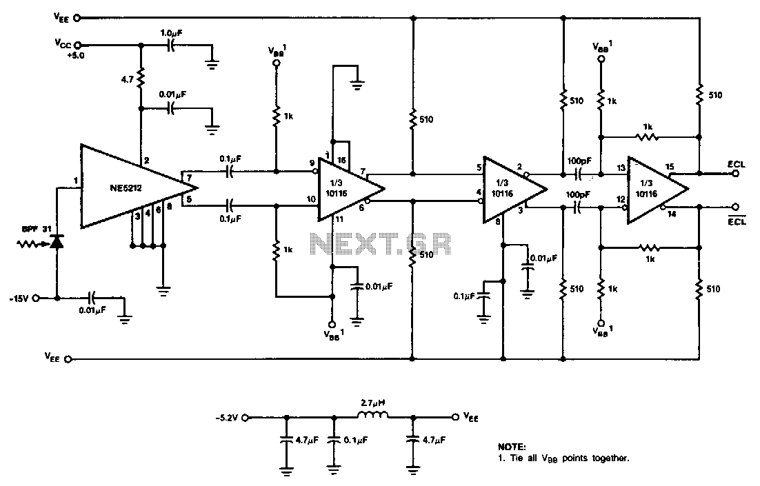 Digital-fiber-optic-receiver - schematic