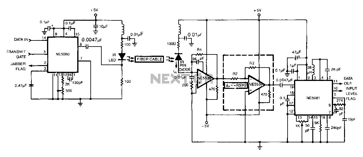 Fiber-optic-link - schematic