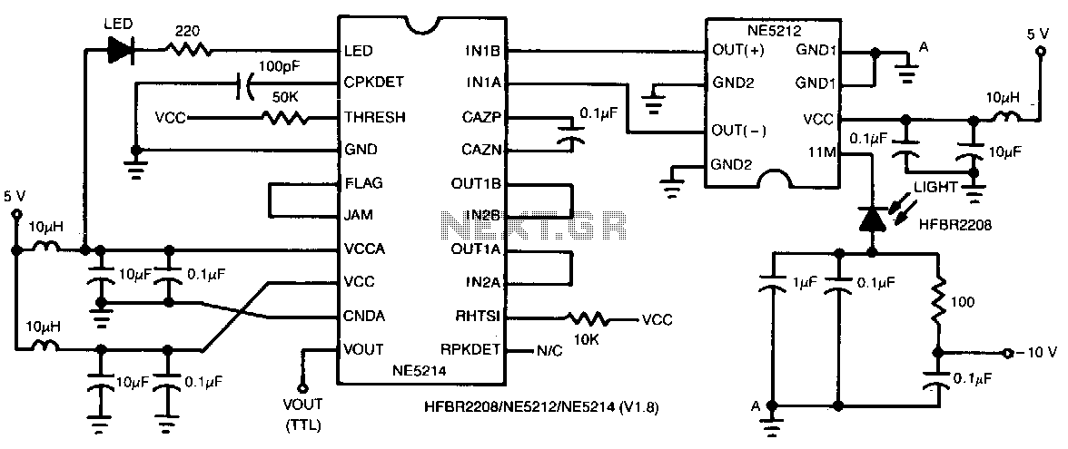 100M-baud-fiber-optic-receiver - schematic