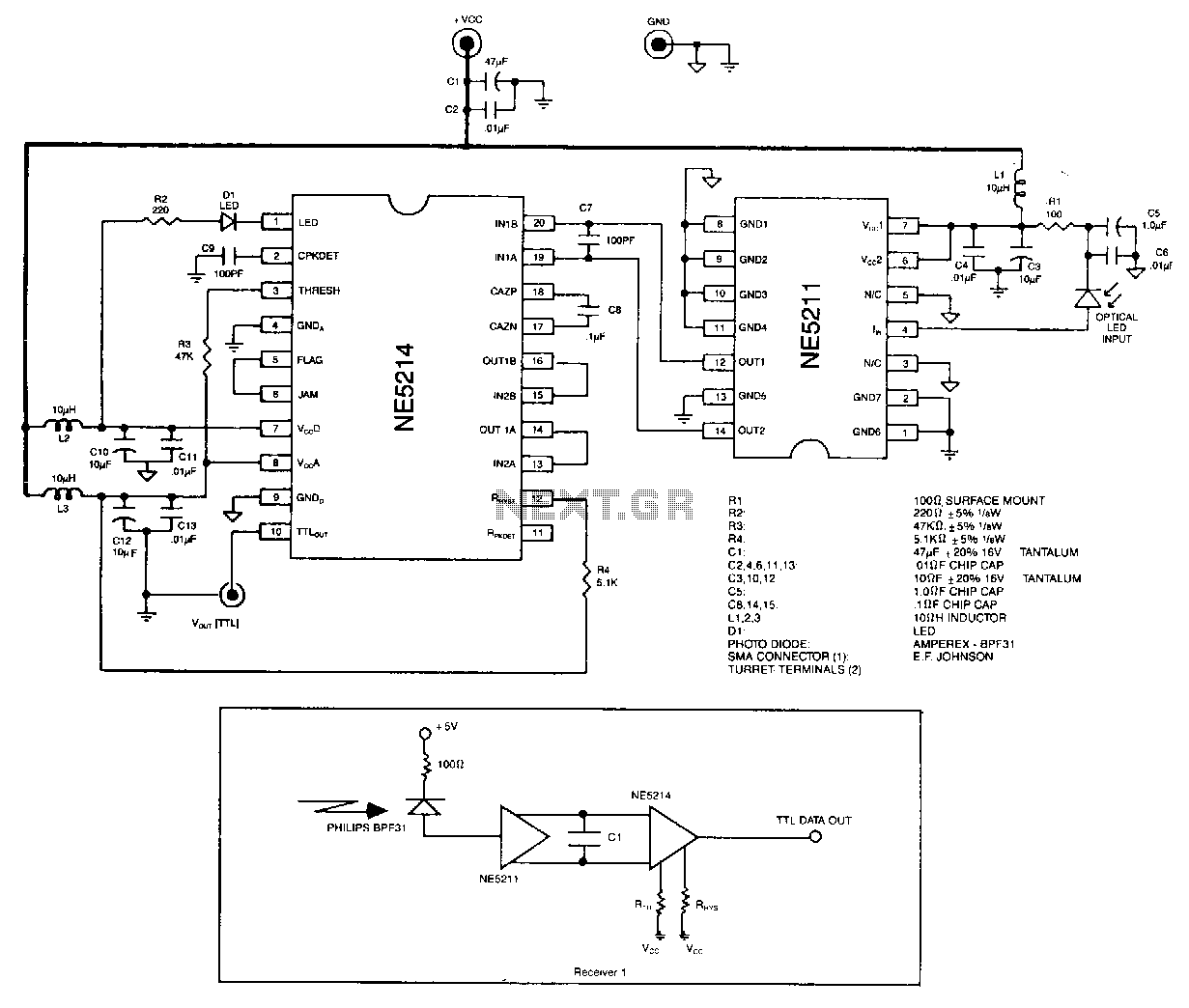Laser Led Circuit Page 4 Or Lamp Pulser Fiber Optic Receiver