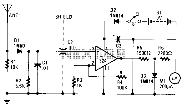Field-strength-meter - schematic