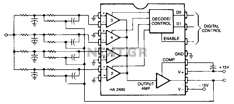Programmable-active-filters - schematic