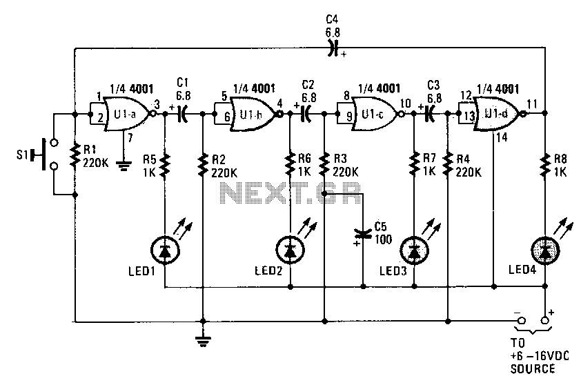 Ring-around-led-flasher - schematic