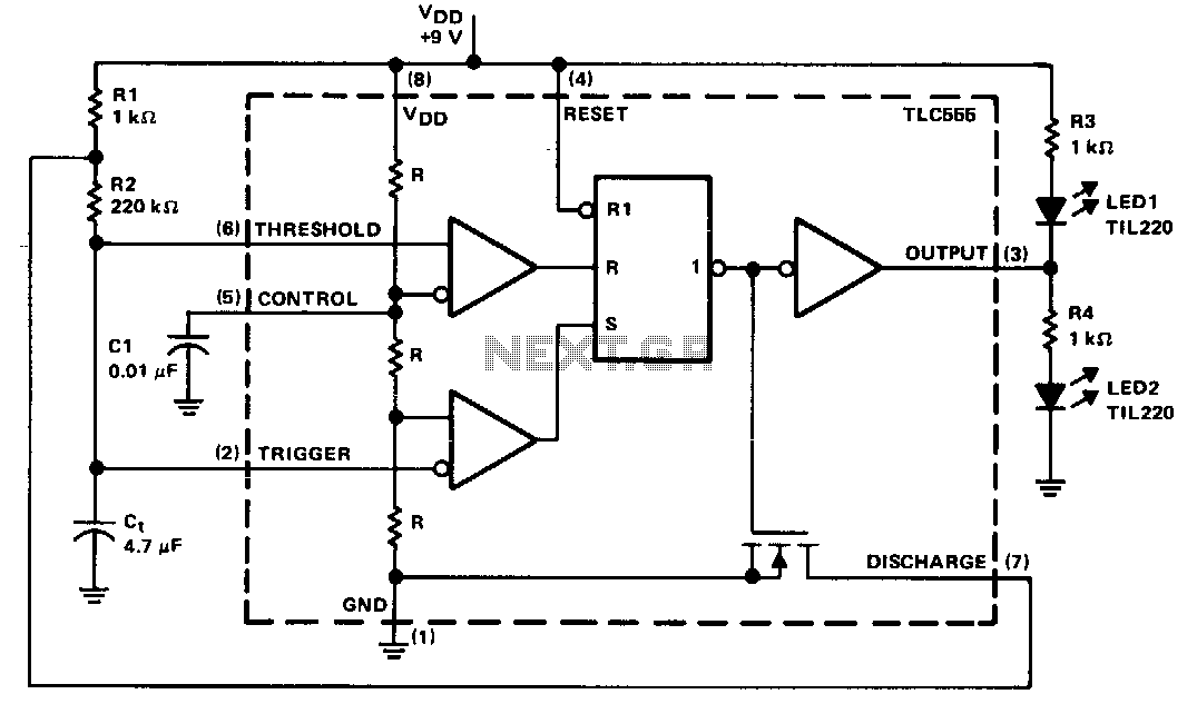 Alternating-led-flasher - schematic