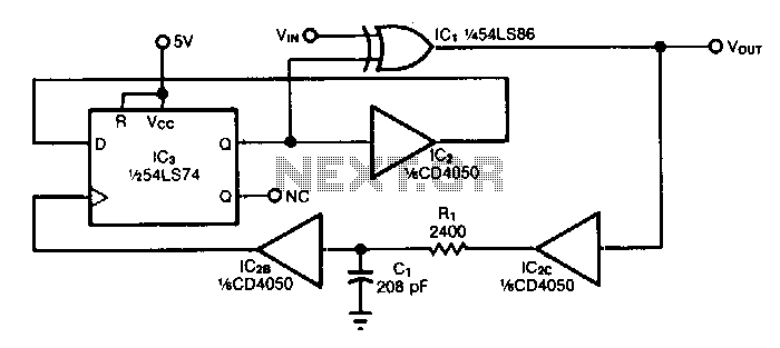 Digital-frequency-doubler - schematic