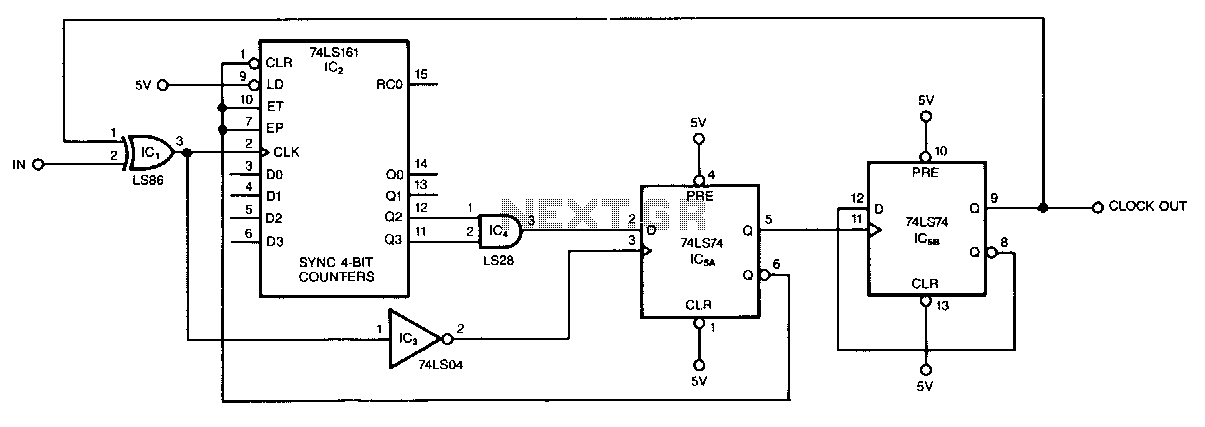 Odd-number-counter-divider - schematic