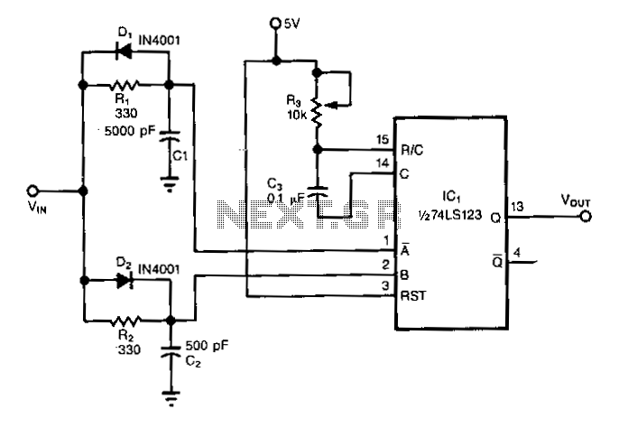 Single-chip-frequency-doubler - schematic