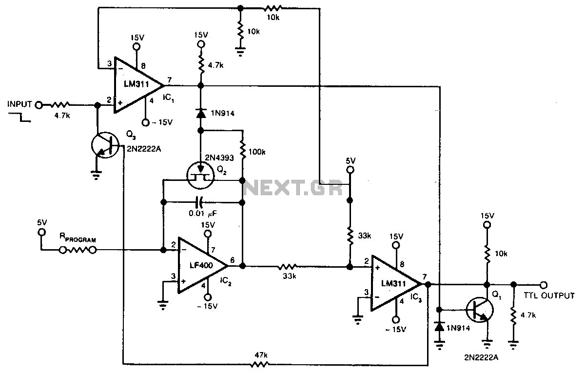 Monostable Oscillator Circuit Circuits 555 Timer Electrical Engineering Electronics Precision One Shot
