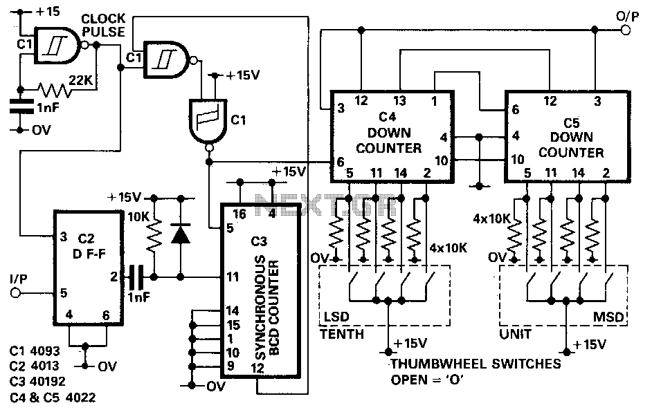 Non-integer-programmable-pulse-divider - schematic