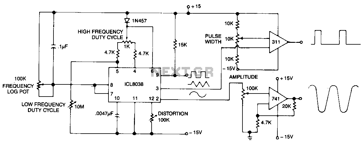 Precision-audio-waveform-generator - schematic