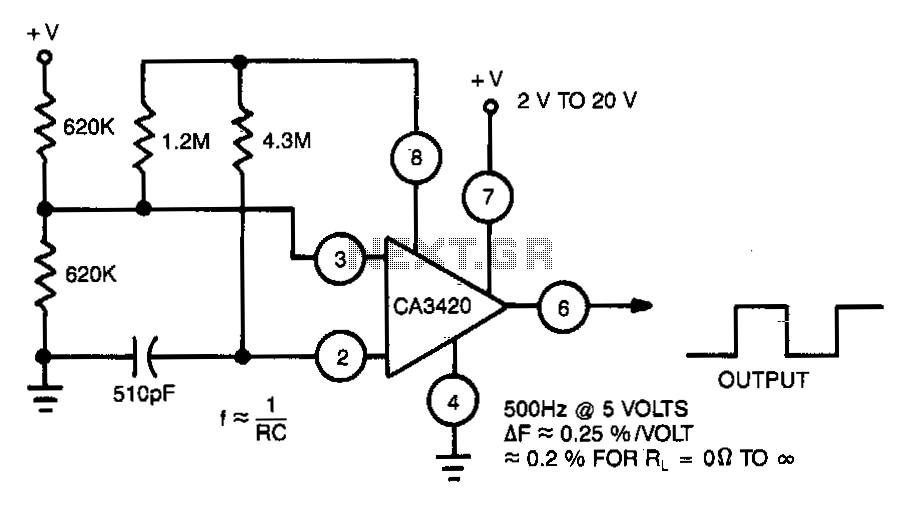Single-supply-multivibrator - schematic